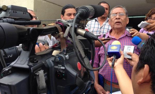 Enrique Pérez López, vocero del Frente Campesino y Popular de Chiapas, conformado por una decena de organizaciones sociales.