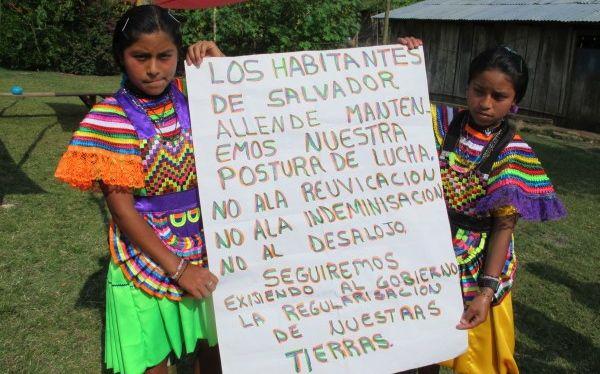 Habitantes de Salvador Allende lucha por el reconocimiento a su legal estancia en la selva Lacandona. Foto: Ángeles Mariscal/Chiapas PARALELO
