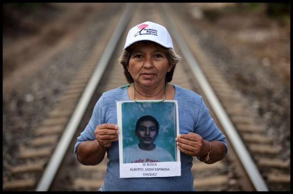 Dorca Espinoza Vazquez quien busca a su hijo Alberto Sadaí Espinoza Vasquez.