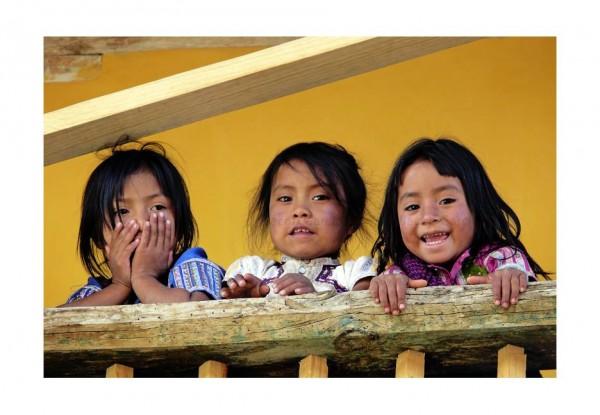 Niñas Tsotsiles de Chiapas. Foto: Jacob García