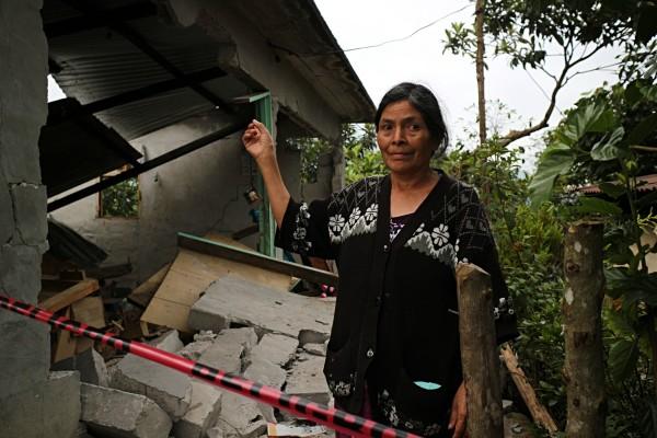 Casa destruida en la zona sierra. Foto: Elizabeth Ruiz