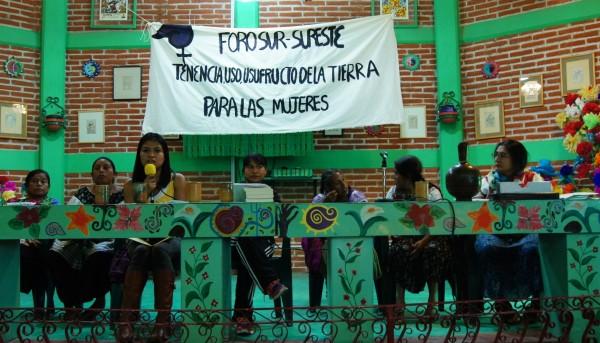 Foro Sur-Sureste de análisis y construcción de alternativas: Tenencia, Uso y Usufructo de la tierra para las mujeres en San Cristóbal de Las Casas.