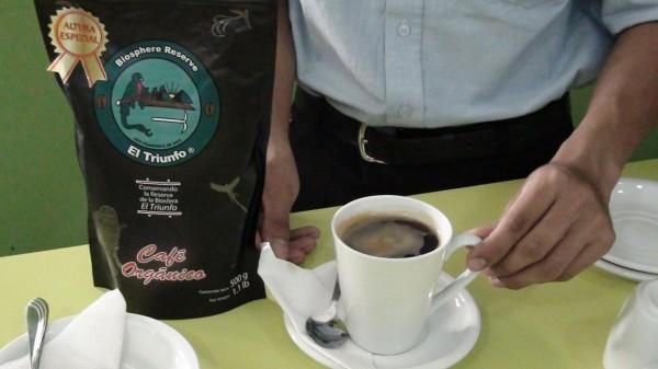 De la biósfera a su taza, café orgánico de El Triunfo.  Foto: Ángeles Mariscal