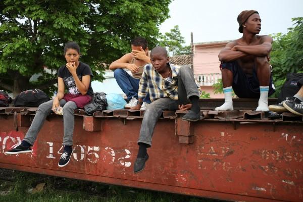 Niños migrantes. Foto: Elizabeth Ruiz