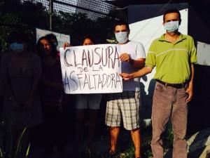 Protesta contra asfaltadora COMASUR. Foto: Chiapas Paralelo