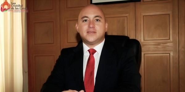 El presidente municipal de San Cristóbal de las Casas, Francisco Martínez Pedrero.-