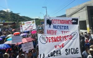 """""""Jesucristo Vive, La Lucha Sigue"""", consigna en la peregrinación del Pueblo Creyente. Foto: Cortesía"""