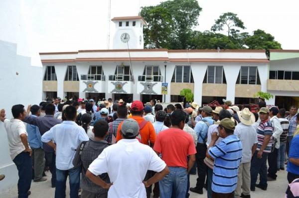 En Palenque marchan para exigir la libertad de Juan Vázquez Sánchez. Foto: Chiapas PARALELO