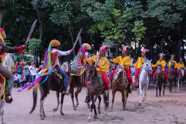 Los alfares y nahuares salen en la celebración de Santo Domingo cada 08 de Agosto. Foto: Francisco López Velásquez/ Chiapas PARALELO.
