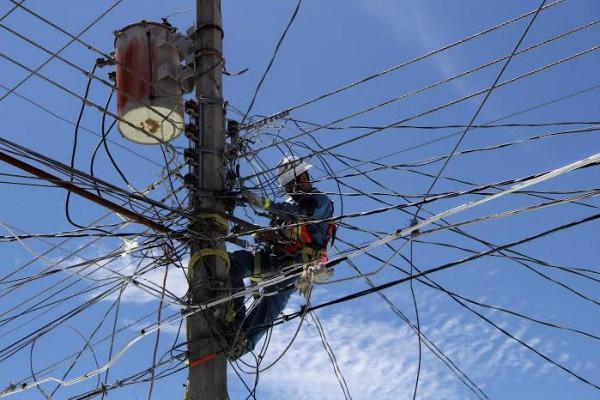 Entre cables: Foto: Elizabeth Ruiz