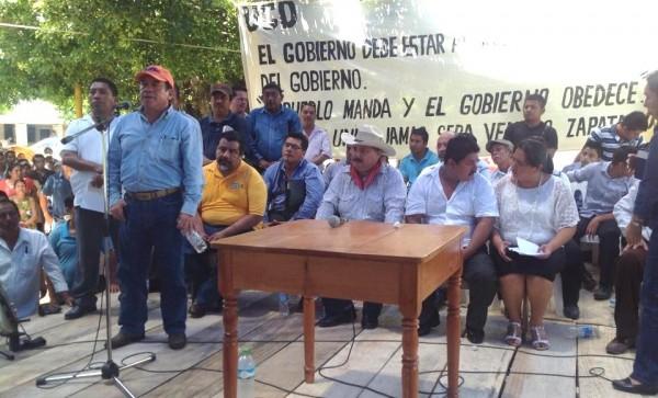 El dirigente nacional de la UCD estuvo en el evento con miles de choles que se dieron cita en la comunidad Jerusalen, el sábado pasado. Foto: Chiapas PARALELO