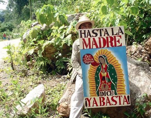 Imagen del encuentro entre pueblos indígenas y el EZLN, que se lleva a cabo en el poblado La Realidad. Foto: Los Tercios Compas