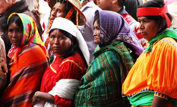 Miles de mujeres y hombres indígenas fueron trasladados a Chiapas, desde otros lugares del país. Foto: Elizabeth Ruiz