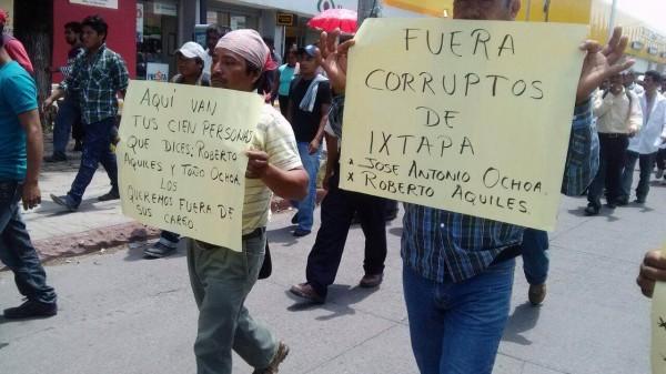 Marcha de campesinos de Ixtapa. Foto: Chiapas PARALELO