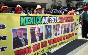 Continúa oposición de maestros a reforma educativa. Foto: Elizabeth Ruiz