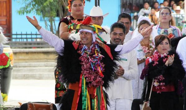 Grupos indígenas rechazan la energética y otras reformas que consideran los despojan de su tierra y territorio. Foto: Elizabeth Ruiz