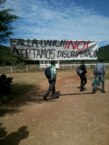 Estudiantes piden intervención de CNDH y Conapred. Foto: Chiapas PARALELO