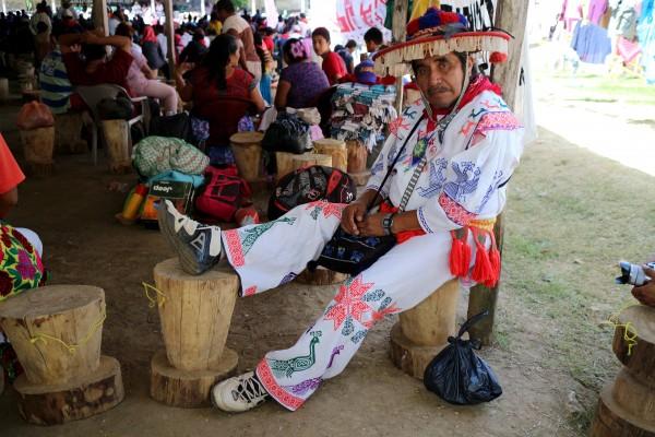 Indígenas llegaron a La Realidad, desde diversos rincones del país. Foto: Elizabeth Ruiz.
