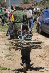 """La población indígena de San Cristóbal de las Casas fue la principal afectada por la """"culebra"""". Foto: Elizabeth Ruiz"""