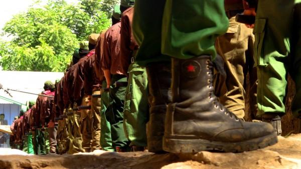 La milicia rebelde del EZLN. Foto: Saúl Kak