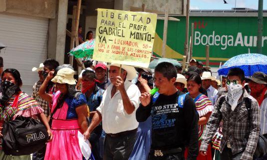 Manifestación en mayo pasado, para exigir la liberación de Gabriel Montoya. Foto: Archivo