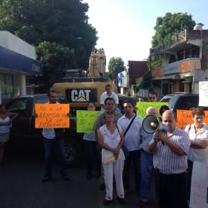 Manifestación de empresarios de Tapachula. Foto: Cortesía