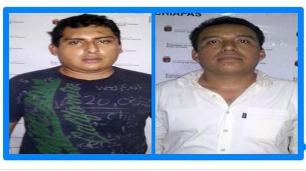 Los presuntos responsables boletinados por la PGJE de Chiapas.