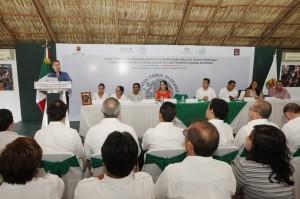 El acto protocolario donde el Estado mexicano pidió una disculpa pública a Ananaías Laparra Martínez. Foto: Araujo.org