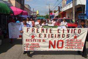 Marcha para celebrar aniversario del Centro de Derechos Humanos Digna Ochoa. Foto: Cortesía