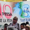 En la reunión realizada en Olintla, territorio totonaku, en la que se declararon en pie de lucha y en rechazo a las reformas realizadas por el gobierno de Enrique Peña Nieto. Foto: Radio Expresión