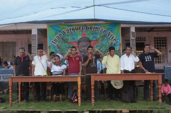 Los tres indígenas tseltales detenidos, son de la comunidad Virgen de Dolores. Foto: Radio Pozol