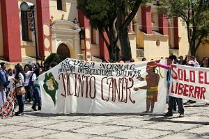 Estuduantes de Escuelas Normalistas. Foto: Elizabeth Ruiz