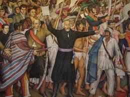 Miguel Hilalgo. Mural de Juan O´Gorman