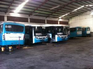 35% del parque vehícular del Tapachultecobus, se encuentra descompuesto. Foto: Cesar Rodríguez
