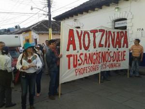 Jorge Alberto López Arévalo en la marcha del 8 de octubre. Foto: Ana Palacios.