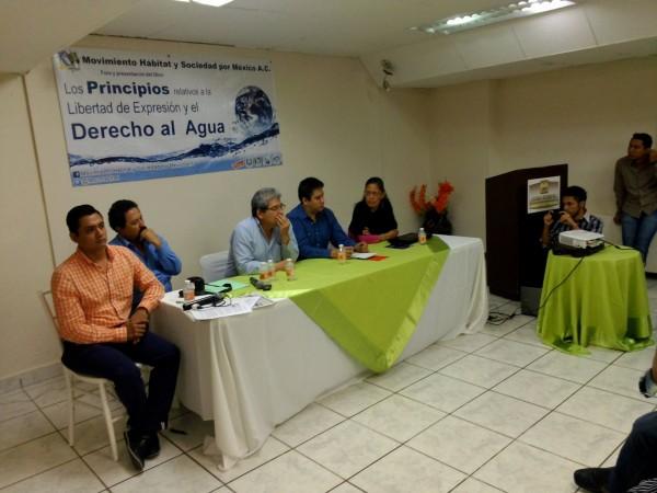 """Foro """"Los Principios relativos a la Libertad de Expresión y el Derecho al Agua"""" celebrado el pasado jueves en Tuxtla Gutiérrez."""