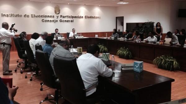 Sesión para la toma de protesta de las y los nuevos consejeros electorales del IEPC.