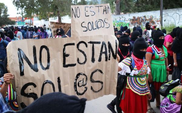 """""""No están solos"""". Foto: Elizabeth Ruiz"""