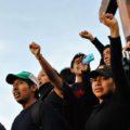 Estudiantes de luto por Ayotzonapa. Foto: Rafael Hernández