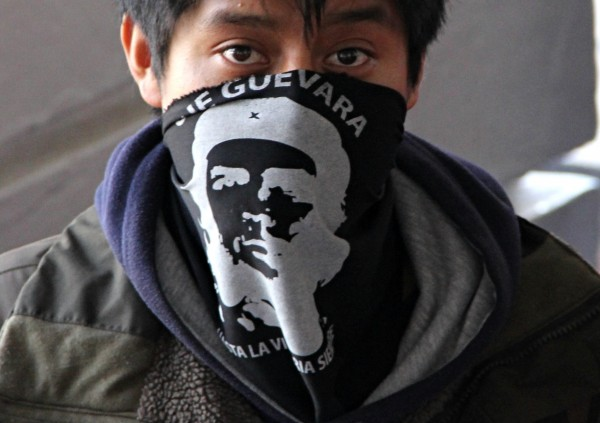 Normalistas de San Cristóbal. Foto: Elizabeth Ruiz
