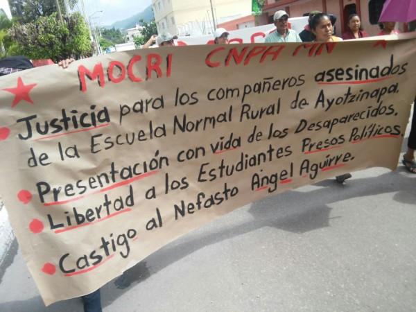 MOCRI realiza manifestaciones en Chiapas. Foto: Erick Bautista
