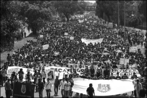 Manifestación de estudiantes del IPN. Foto: Notimex