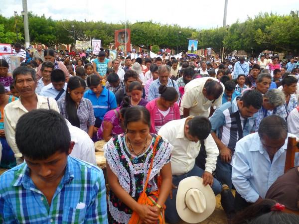 En octubre pasado, el Pueblo Creyente de Simojovel, denunció el incremento d e la violencia en ese municipio.  Foto: Cortesía