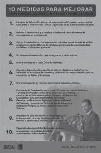 Los 10 puntos del presidente Peña Nieto en su discurso oficial