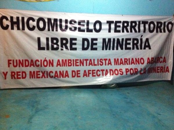 Exigen habitantes de Chicomuselo que empresas mineras los dejen vivir en paz. Foto: Fredy Martín Pérez