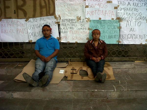Huelga de hambre en apoyo a Florentino Gómez Girón. Foto: Chiapas PARALELO