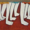 Caminantes. Del mural en La 72. Foto: Saúl Kak