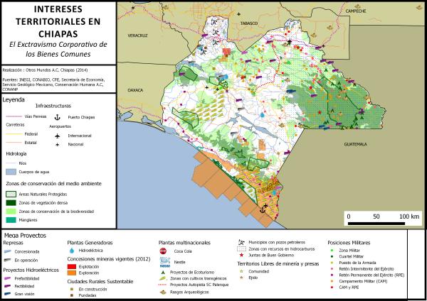 Intereses Territoriales en Chiapas El Extractivismo Corporativo de los Bienes Comunes Realización: Otros Mundos A.C. Chiapas (2014)