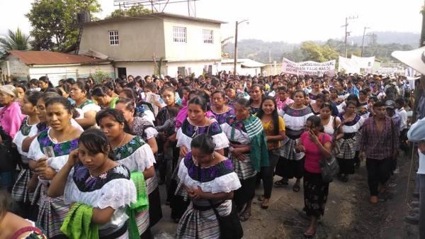 Manifestacion Bachajón. Foto: Archivo Misión de Bachajón