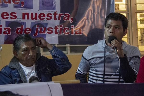"""""""A nosotros, no nos viene bien la resignación"""". Foto: Moysés Zúñiga Santiago"""
